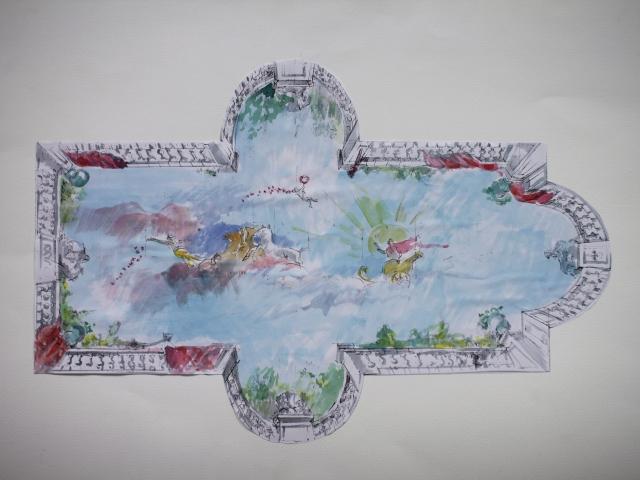 Deckenmalerei im Schwimmbad